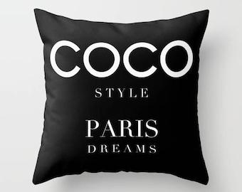 Paris Pillow, Fashion Pillow, Velvet Pillow Cover, Fashion Decor, Girls Room Decor, Dorm Decor, Teen Girl Room Decor, Gifts for Her