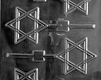 LOPR-037 - Star of David Chocolate Lollipop Mold