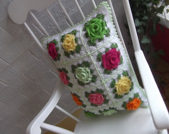 All 5 steps of the Granny Rose Pattern (Instant Download)