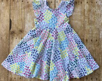 V Back Twirly Dress, Infant Dress, Toddler Dress, Girls Dress, Knit Dress, Comfy Dress, Twirl Skirt, Twirl Dress
