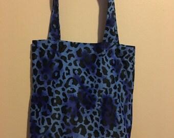 Blue Leopard Tote