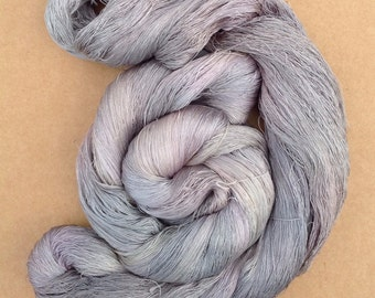 Hand Dyed Silk Yarn, Spun Silk Yarn, Weaving, Lace Knitting,  Lacemaking, 60/2 weight, No.56 Pebble