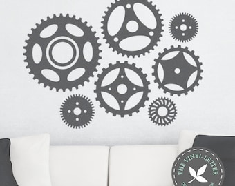 Gears | Vinyl Wall Home Decor Decal Sticker