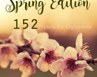 Spring Edition ! 152 Lightroom Presets for LR 4,5,6 & CC