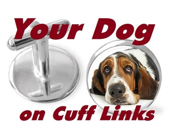 Your Dog on Cuff Links or Tie Clip