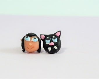 Hotel Transylvania 3 - Bat earrings - Gift for kids - Hotel Transylvania party - Disney earrings - Disney jewelry - Polymer clay earrings -