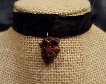 I Give You My Heart~ Mini Anatomically Heart Charm Choker Necklace