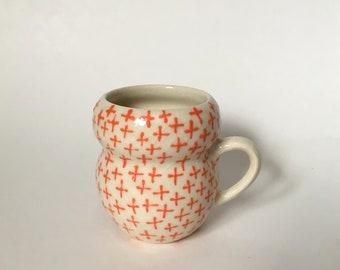 Orange Plus Sign Espresso Cup