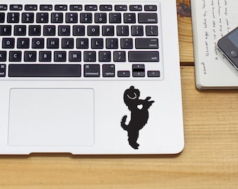 Shih Tzu w/ Heart Car Laptop Vinyl Decal Sticker