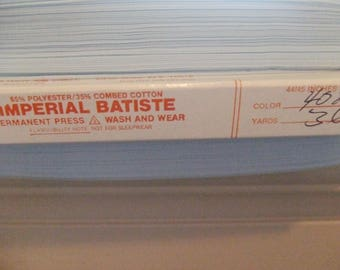 8 Yds. Imperial Batiste - Baby Blue - Sewing Room Destash - Free Shipping