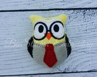 ITH Wizard Owl - Embroidery Design - 4x4 5x7 6x10 8x10 instant download