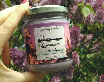 The romance of Paris: soy wax candle