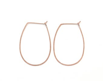 Rounded Oval Hoops gold filled rose gold filled sterling silver earrings lightweight everyday hoops hammered modern easy hoops oval