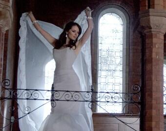 WEDDING SKIRT, Organza Trumpet Skirt, Bridal Skirt