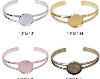 5 PCS Bracelet With 20MM Round Setting,Cuff,Adjustable, fit 20mm Round Cabochons