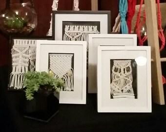 Various Framed Macramé Wall Hangers / Hangings - Customizable