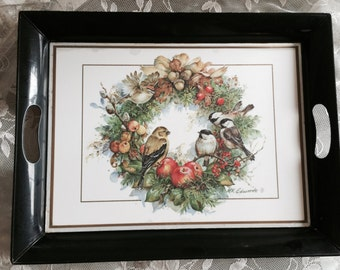50% Off Holiday Sale- Vintage Bird Tray, Large National Wildlife Federation 1993 Tray