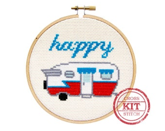 Happy Camper DIY Cross Stitch Kit