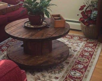 Unique Spool Coffee Table~