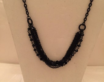 Black Radiance Multi Strand Necklace