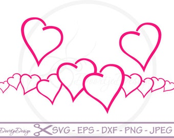 SVG Valentine Love, Valentine Hearts, cutting file, EPS, svg Valentine file, DXF, silhouette, png, svg files for cricut, Scrapbooking Hearts