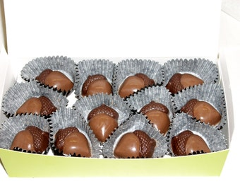 Chocolate Acorn cupcake toppers