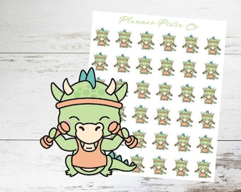 Dragon Planner Stickers // Weight Lifting // Exercise // Workout // 010