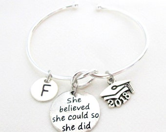 2018 graduation gift, For graduate,College graduation gift for her,Senior student,She believed she could so she did,Free Shipping USA