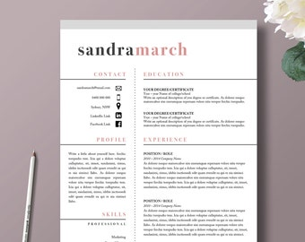 Professional Resume Template | 2 Page Resume + 1 Page Cover Letter |  Professional Template |