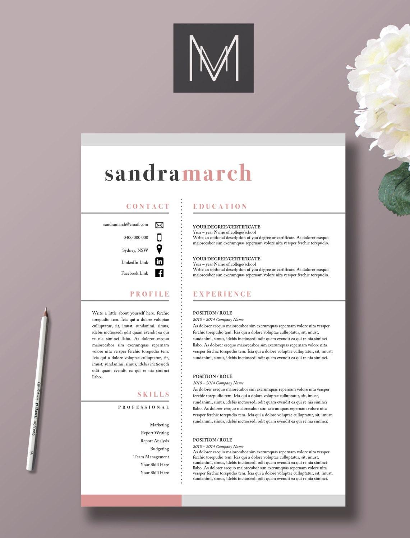 professional resume mod u00e8le 2 page cv lettre de motivation