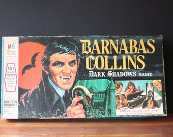 Vintage Barnabas Collins Dark Shadows Board Game, Milton Bradley