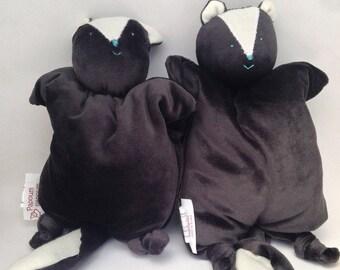 Cuddly friend, baby skunk, organic plush toy
