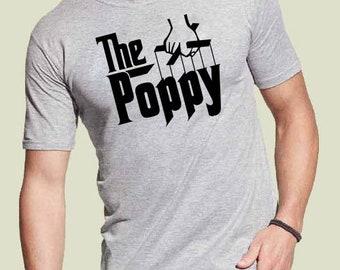 Poppy shirt Father's Day gift grandpa shirt daddy shirt  Personalized t shirt dad new dad shirt fathers day gift papa shirt