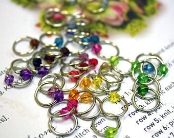 40 Shawl knitting stitch marker rings