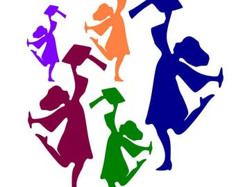 Grad Girl Die Cuts, Choose Your Size, Graduation Decoration, Party Decor, Color Options
