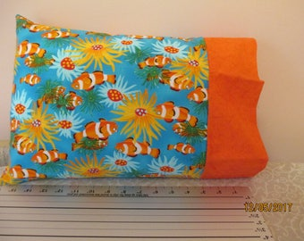 Tropical Fish Travel Size Pillowcase