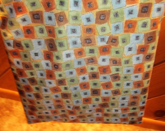 Mens Multi Color Square Design Plastic Lined Wet Bathing Suit Bag