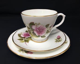 Pretty Pink Rose Tea cup Trio