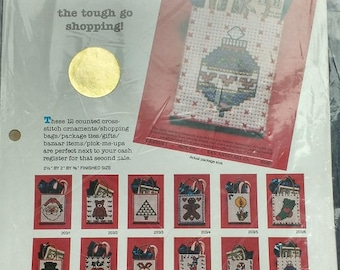 Mary Maxim Design 1 Christmas Ornaments Cross Stitch Kit