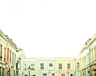 "London photography, Notting Hill art print, London houses, large photography - ""London, Monday Morning"""