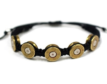 Bullet Bracelet. Unisex Bullet Jewelry .45 Caliber Adjustable Bracelet. Unique Gift for Groomsmen Barn Wedding