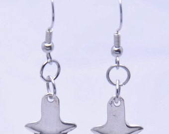 Sugar Tong Earrings made from Vintage Silverware