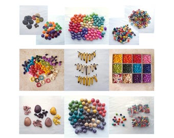 FINAL CLEARANCE - 7900+ Tagua Beads, Destash Tagua Nut Bead, Ring, Medallion, Confetti, Zebra, Rainbow, Nugget, Pebble, Spear, Kidney, Olive