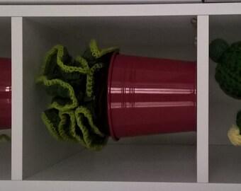 trio of crochet cactus