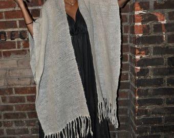 Vintage handmade wool poncho