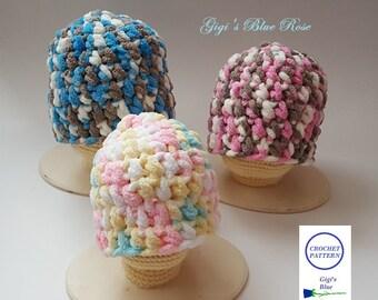 CROCHET PATTERN/Crochet Chunky Baby Hat Pattern/PDF Pattern Only