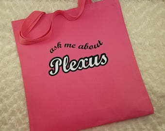 Ask Me About Plexus - Canvas Tote