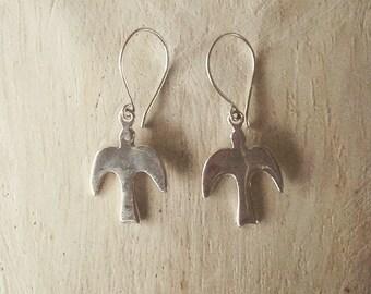Dove Earrings, Peace earrings, bird earrings, dove jewelry, silver earrings, dangle earrings, gifts for her, silver dove jewelry