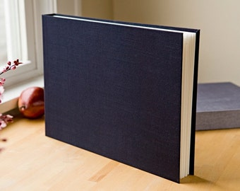 10x14 Photo Album, Hand Stitched, Available Personalized, Your Choice of Colors