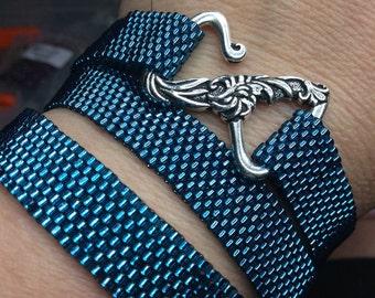 Wrap bracelet, triple wrap bracelet, handmade bracelet